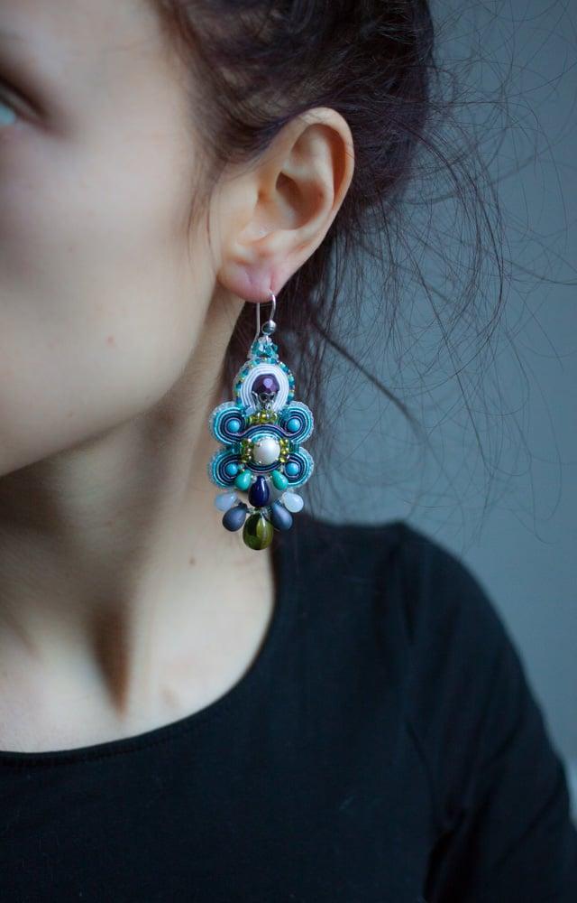 Image of Glory Earrings - Edition pearl - Velvet Kiss