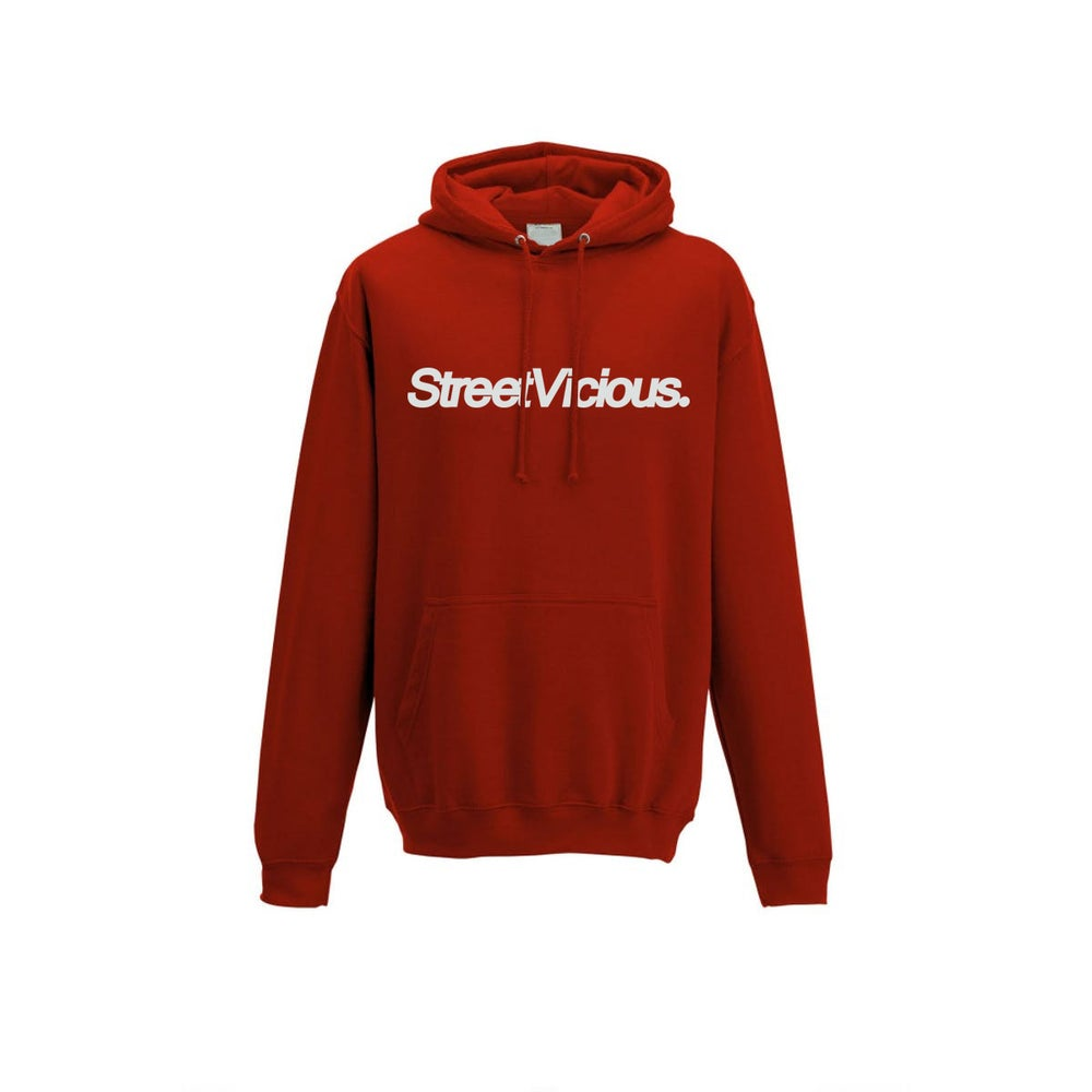 Image of Street Vicious Simple College Hoodie - Fire Red