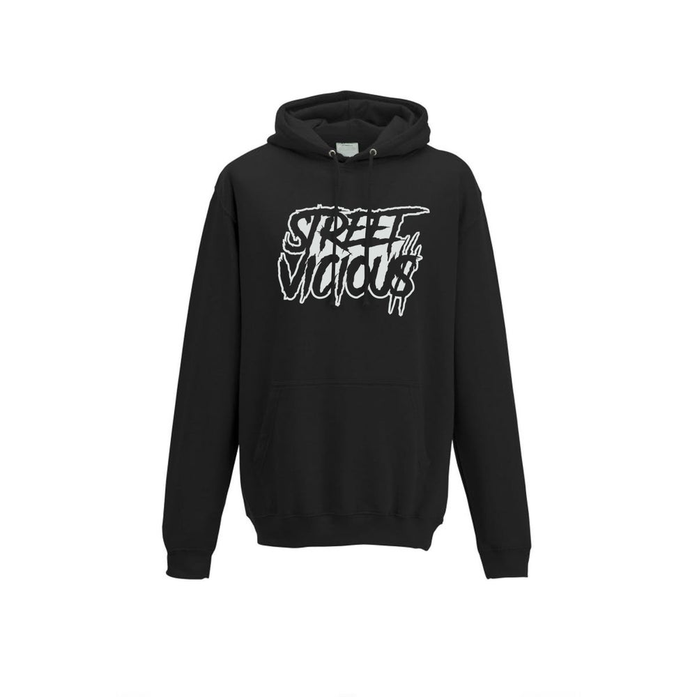 Image of Street Vicious Slasher Stacked College Hoodie - Black