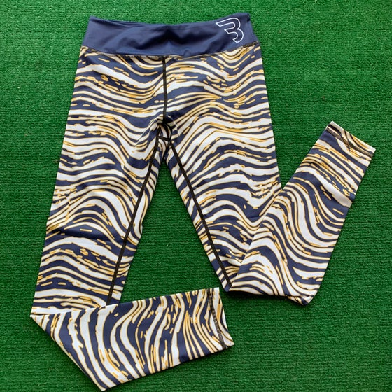 Image of Blue and Gold Backers Leggings
