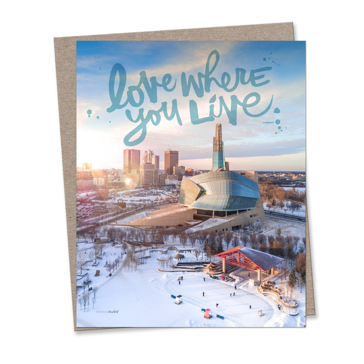 Image of LOVE WHERE YOU LIVE #kbscript print