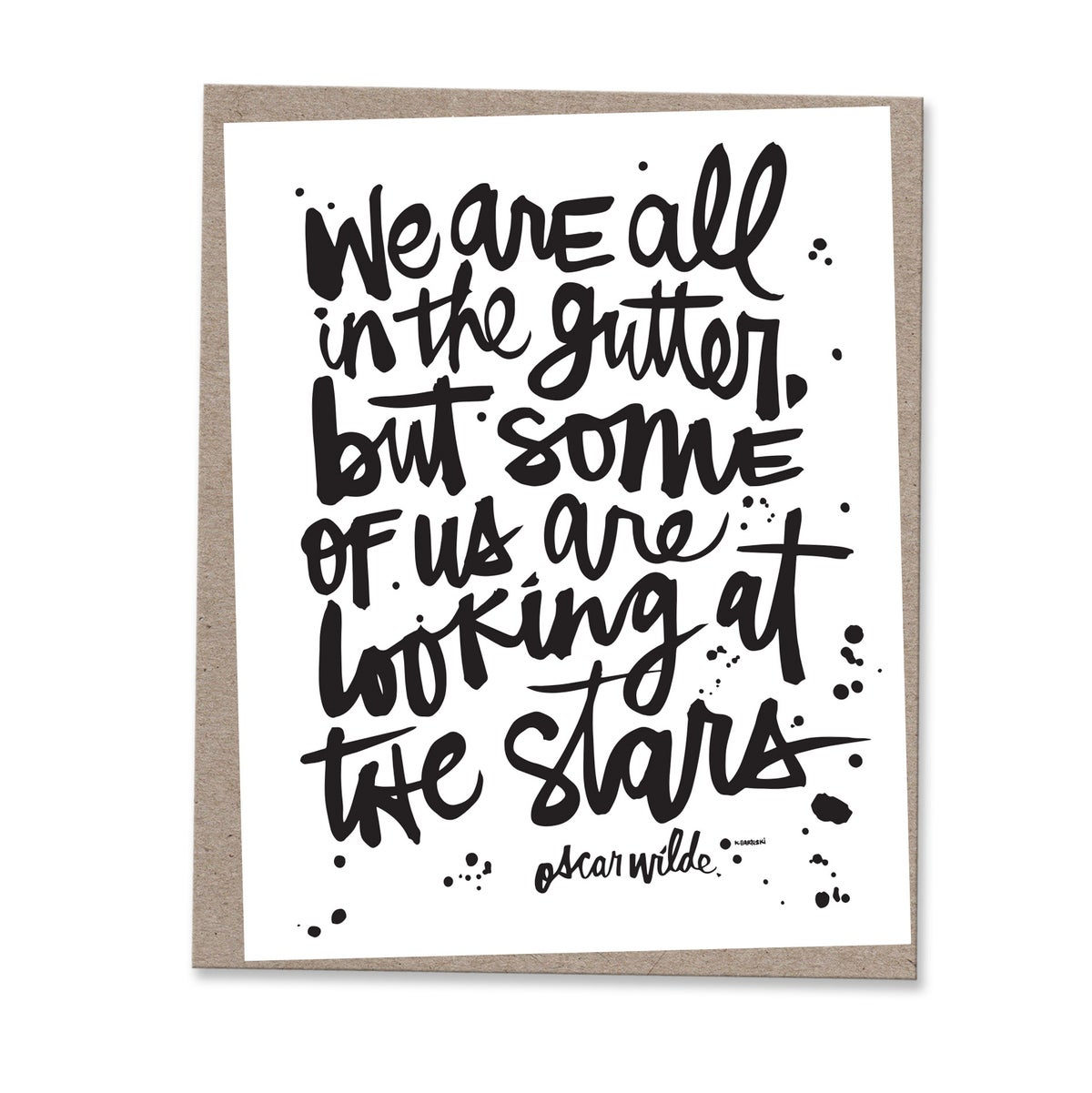 Image of LOOKING AT THE STARS #kbscript print