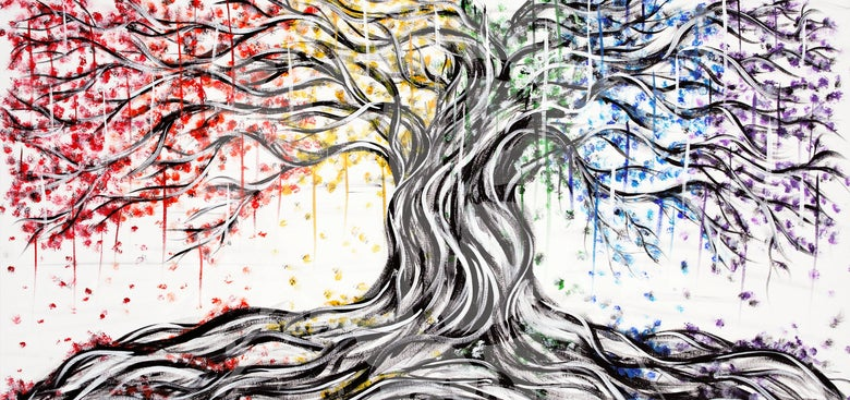 "Image of ""A Colorful Tree"" Print"