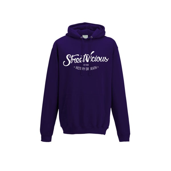 Image of Street Vicious Laid-Back College Hoodie - Ultraviolet