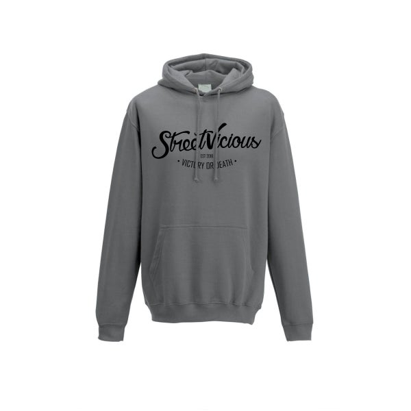 Image of Street Vicious Laid-Back College Hoodie - Steel Grey