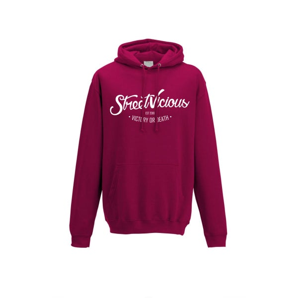 Image of Street Vicious Laid-Back College Hoodie - Cranberry