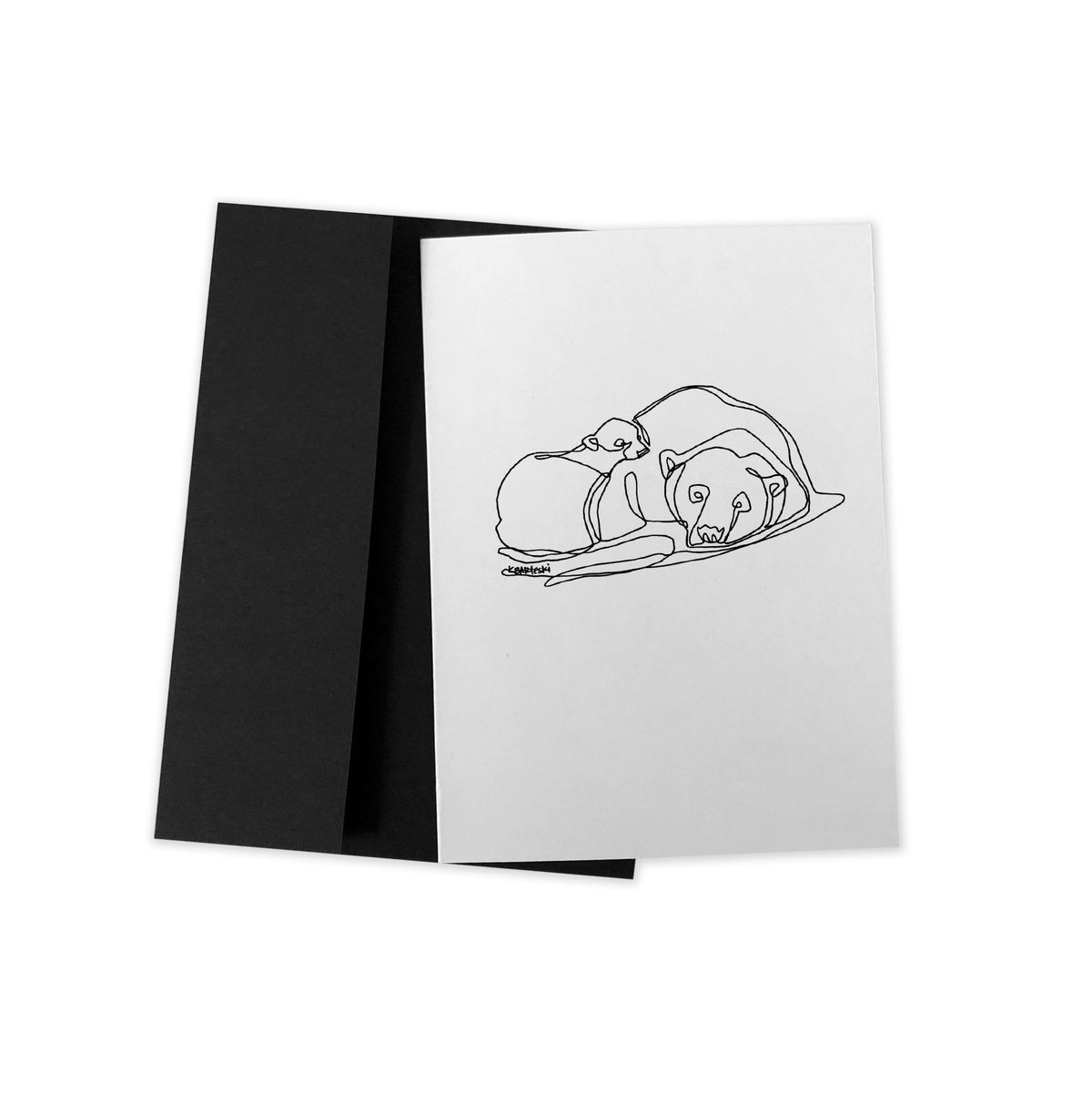 Image of MAMA BEAR line drawing greeting card