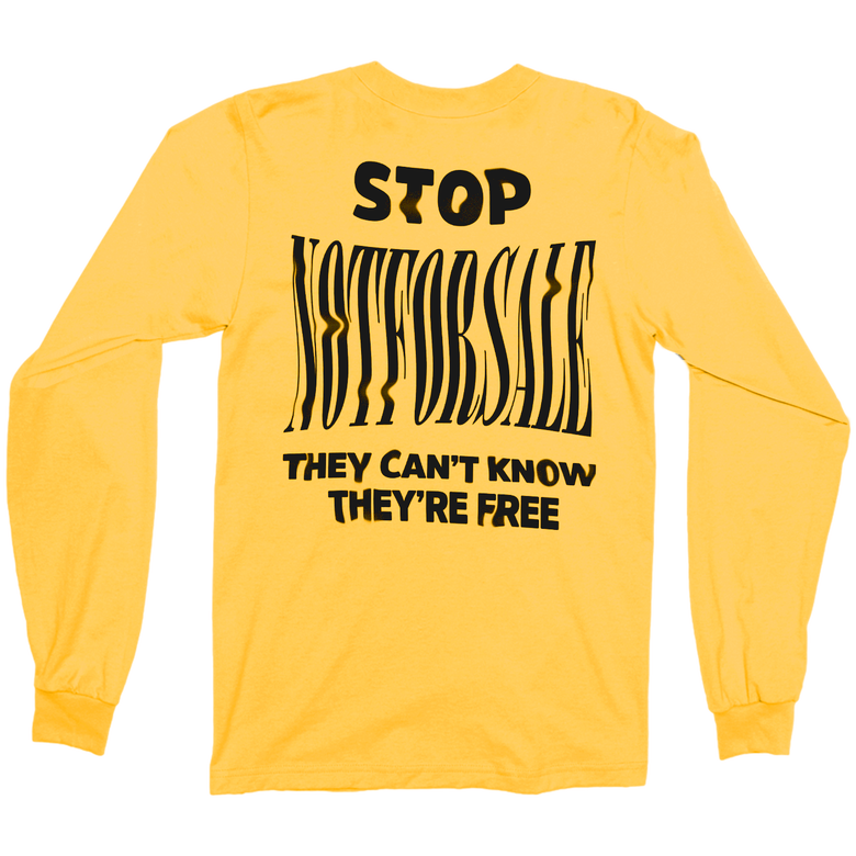 Image of Stop NFS Longsleeve Yellow