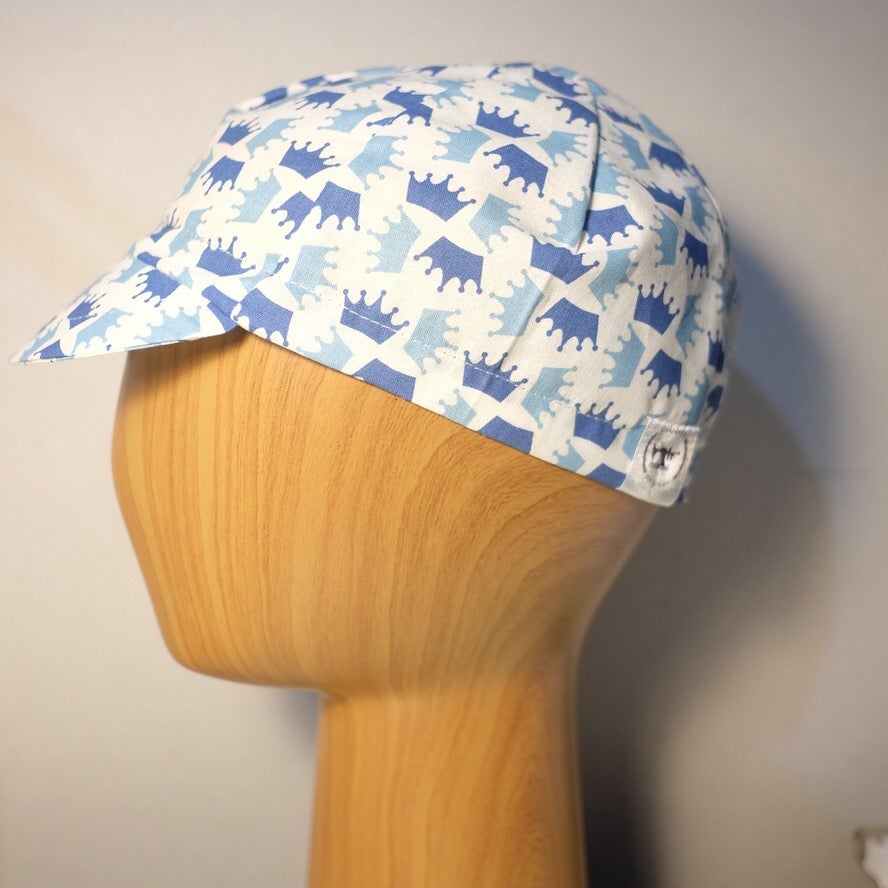 Image of Cotton cycling cap - blue crowns KOM