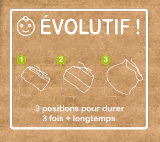 "Image of Bonnet Bambou ""UNI Vert Canard-Sauje"" / ref UNI.C-Sp"