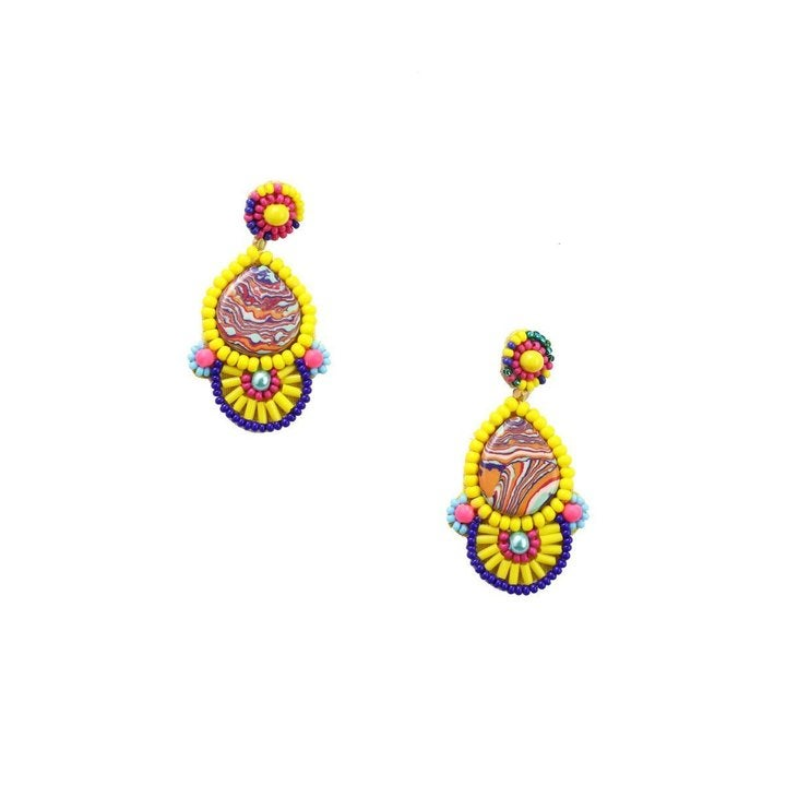 Image of Pina Colada Earrings - Yellow