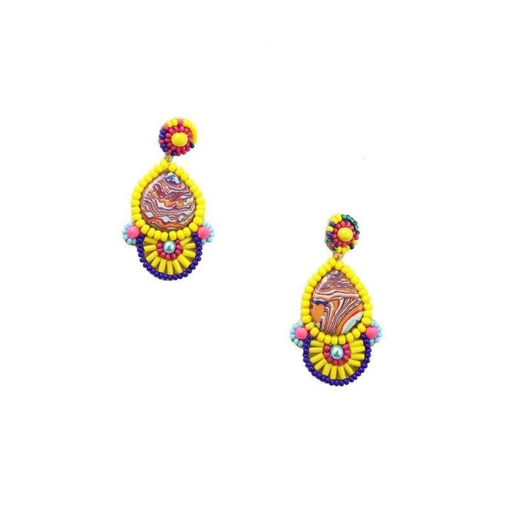 Image of Pina Colada Earrings - Yellow