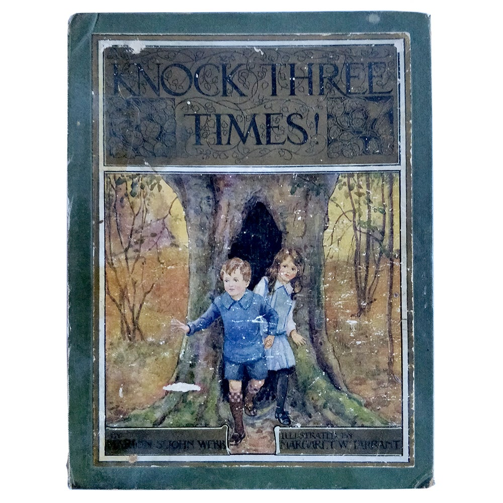 COVER ONLY - Knock Three Times - Marion St John Webb - illustrated by Margaret Tarrant