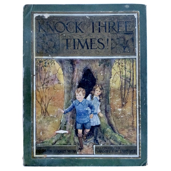 Image of COVER ONLY - Knock Three Times - Marion St John Webb - illustrated by Margaret Tarrant