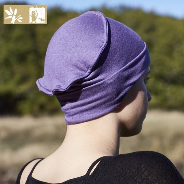 """Image of Bonnet Bambou Uni """"Framboise écrasée"""" ou """"Violet"""""""