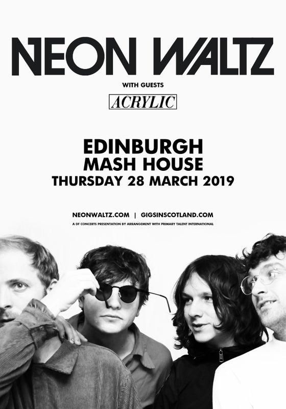 Image of Neon Waltz + Acrylic - The Mash House - Thursday 28th March