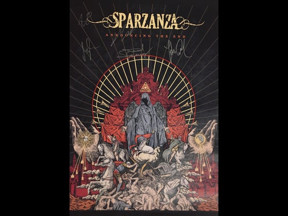 Image of Sparzanza - Announcing the End (Signed Poster)