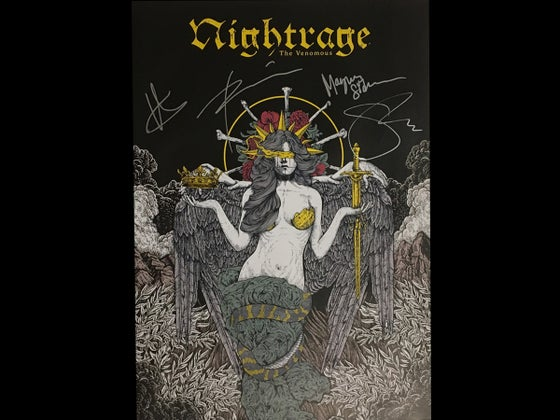 Image of Nightrage - The Venomous (Signed Poster)
