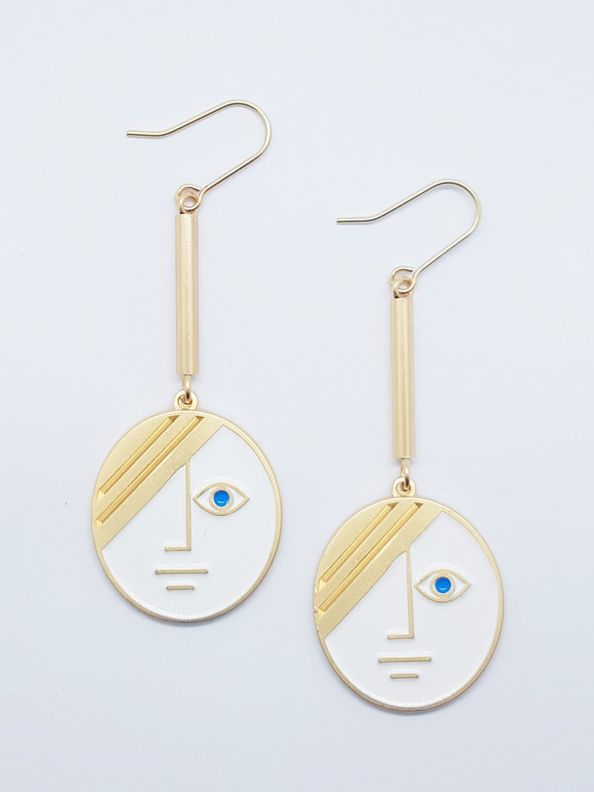 Image of Large Phase Earrings • Stainless steel
