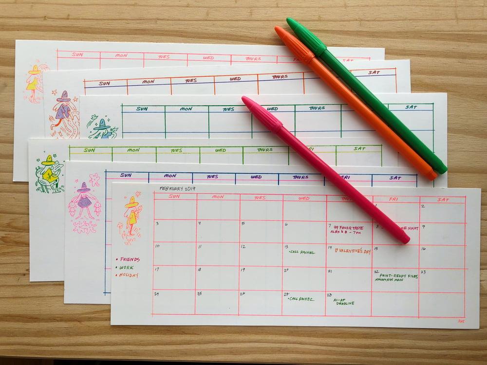 Image of Blank Calendar Sheets