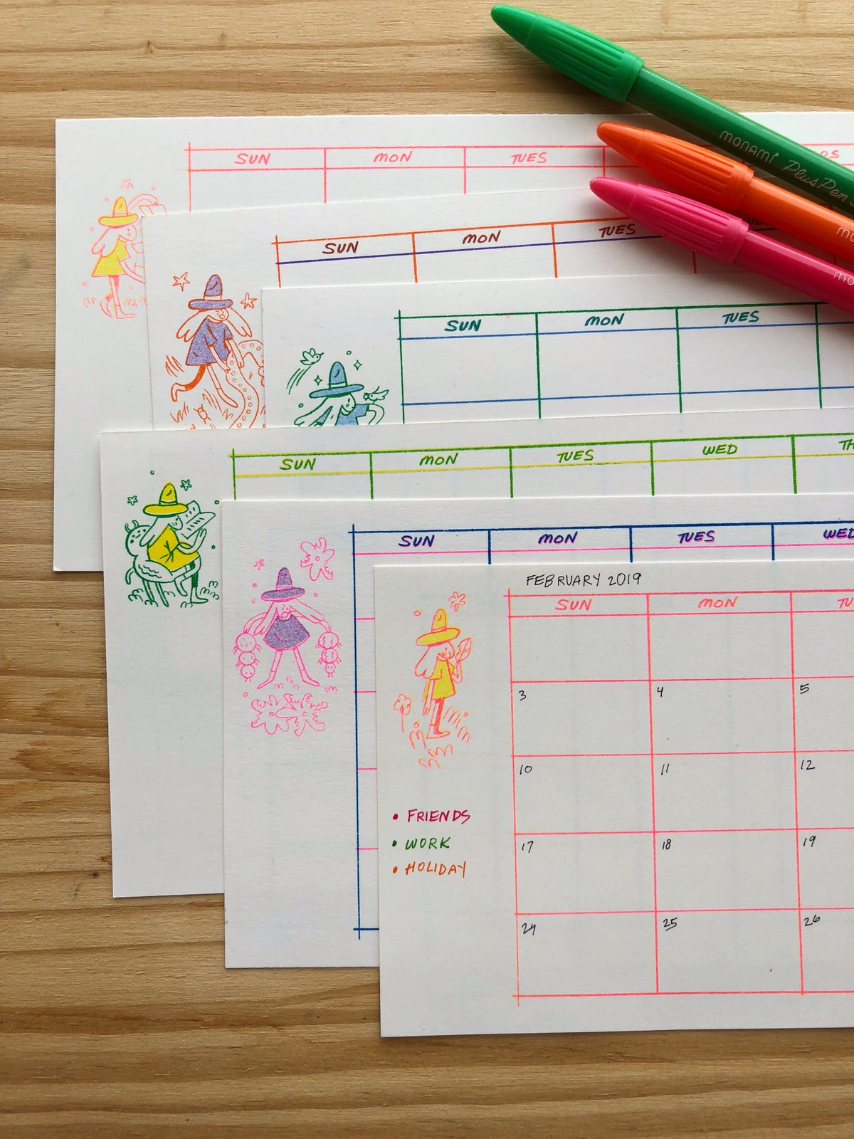 Image of Blank Calendar Sheets