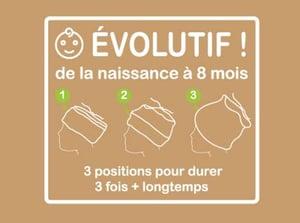 "Image of Bonnet Bambou ""Moussaillon Taupe"" / Ref MOU.T"