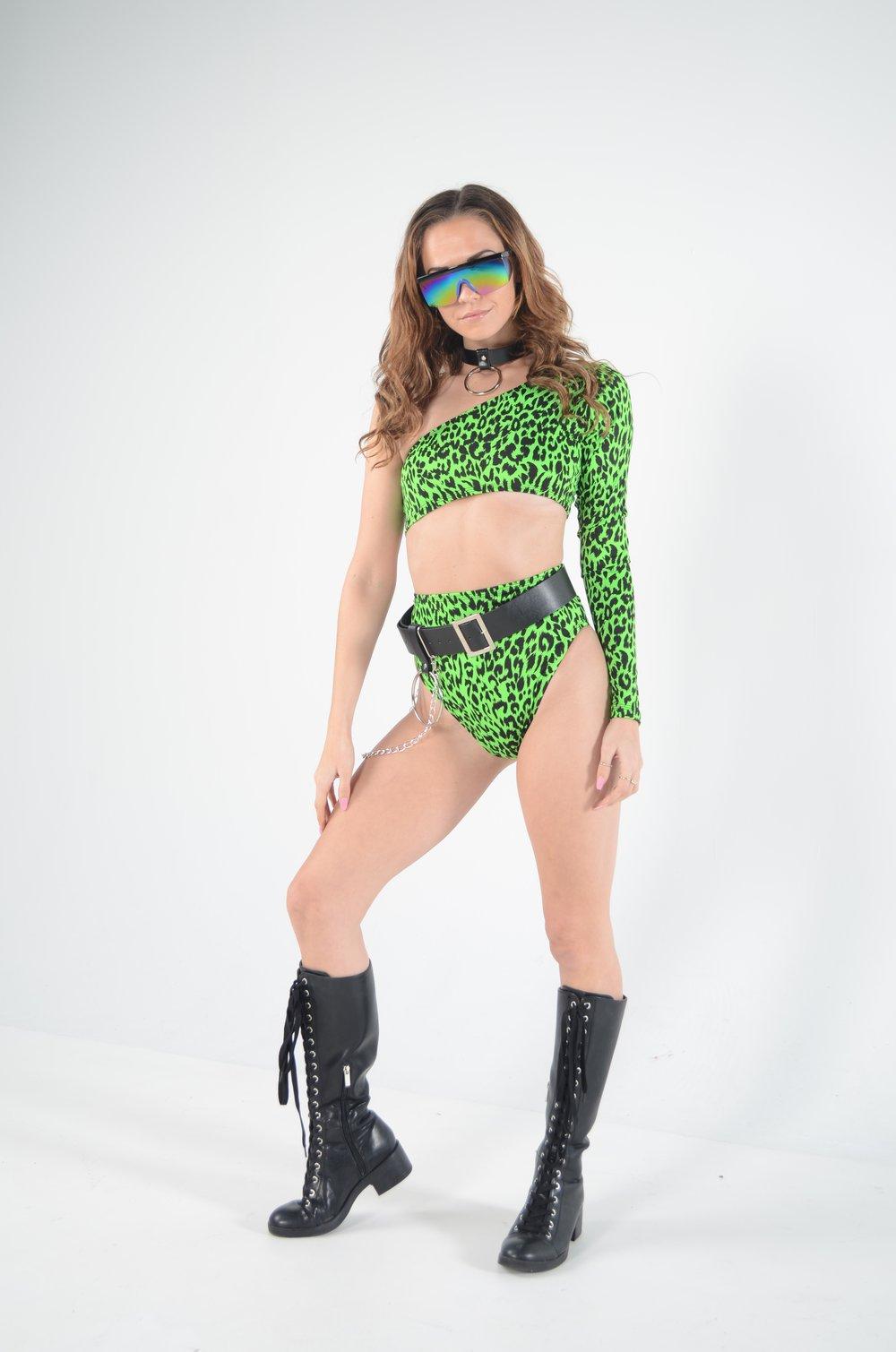 Image of Green Jungle Cat Play Short