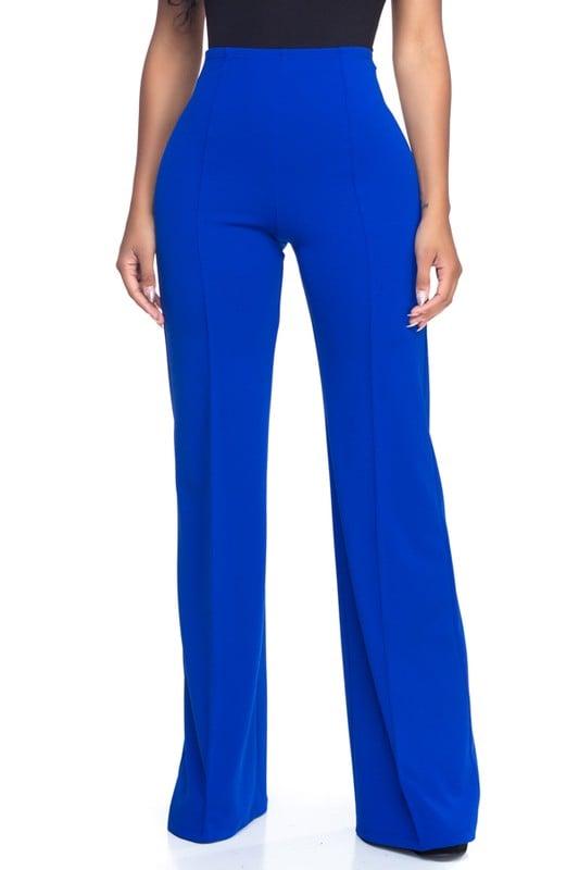 Image of Royal blue high waisted pants