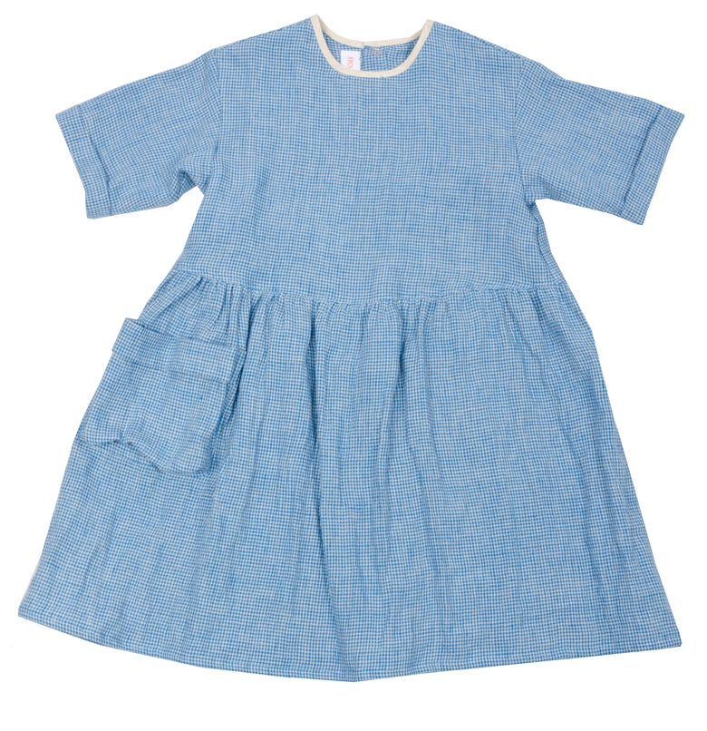 Image of DAY DRESS linen blue