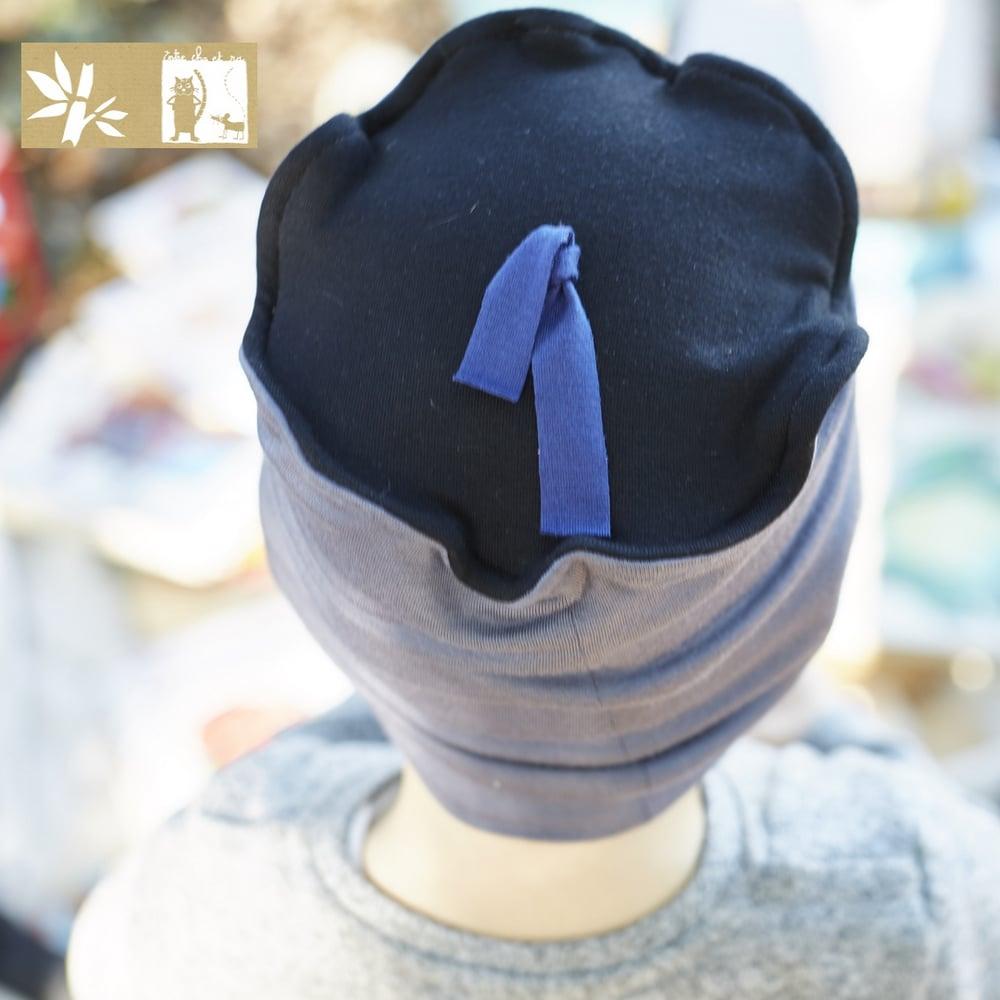 """Image of Bonnet Bambou """"Uni Plomb et noir - canard / Ref UNI.P-Nd"""