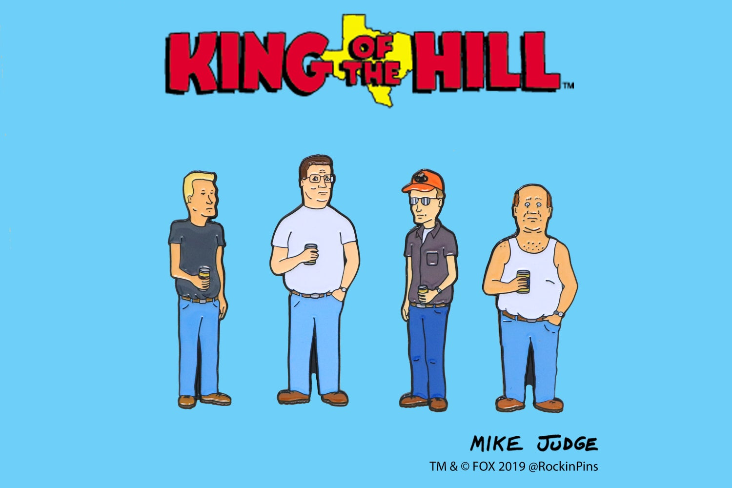 Image of King of the Hill - Alley Enamel Pin Set