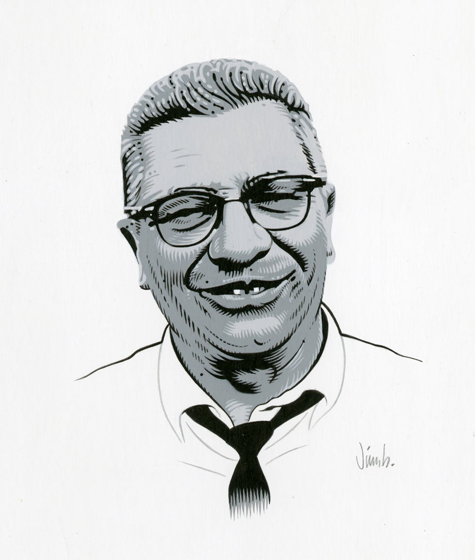 Image of VINCE LOMBARDI acrylic painting
