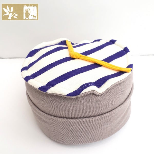 "Image of Bonnet Bambou ""Moussaillon Taupe"" / Ref MOU.T"