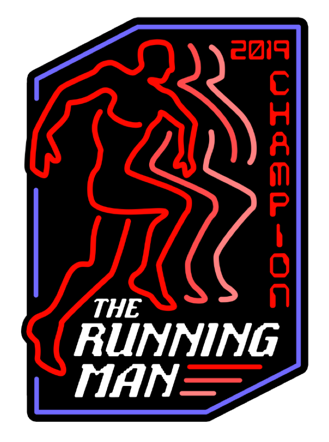Image of The Running Man 2019 Champion by Clay Graham