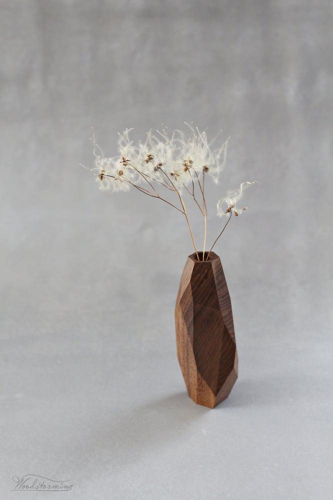 Image of Walnut wood vase