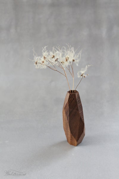 Image of Walnut wood vase