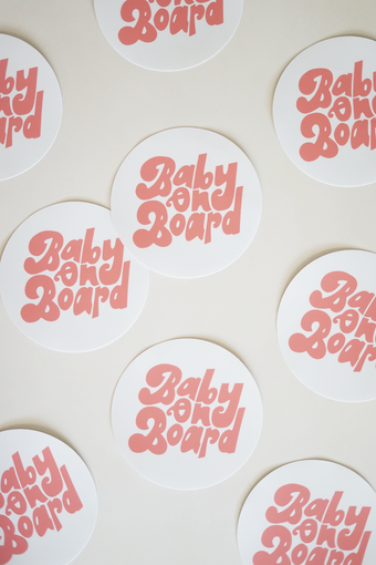Image of baby on board sticker
