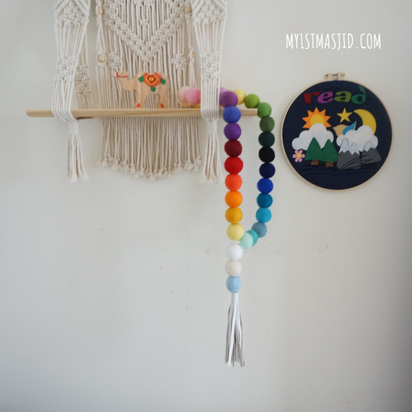 Image of Jumbo Rainbow Prayer Beads