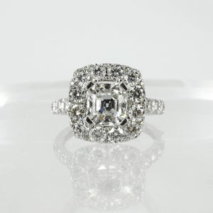 Image of PJ5613 - 18ct white gold diamond Halo engagement ring