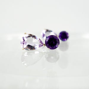 Image of m3124 - Purple Amethyst drop earrings