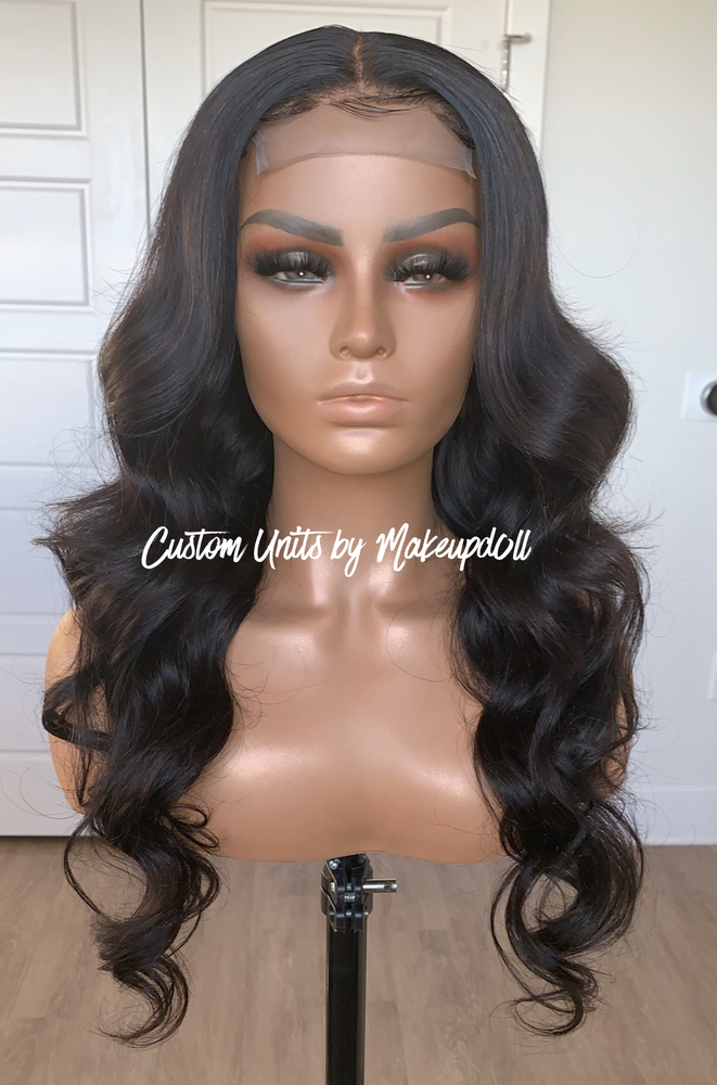 "Image of Brazilian Body Wave 24"" Closure Custom Wig!"