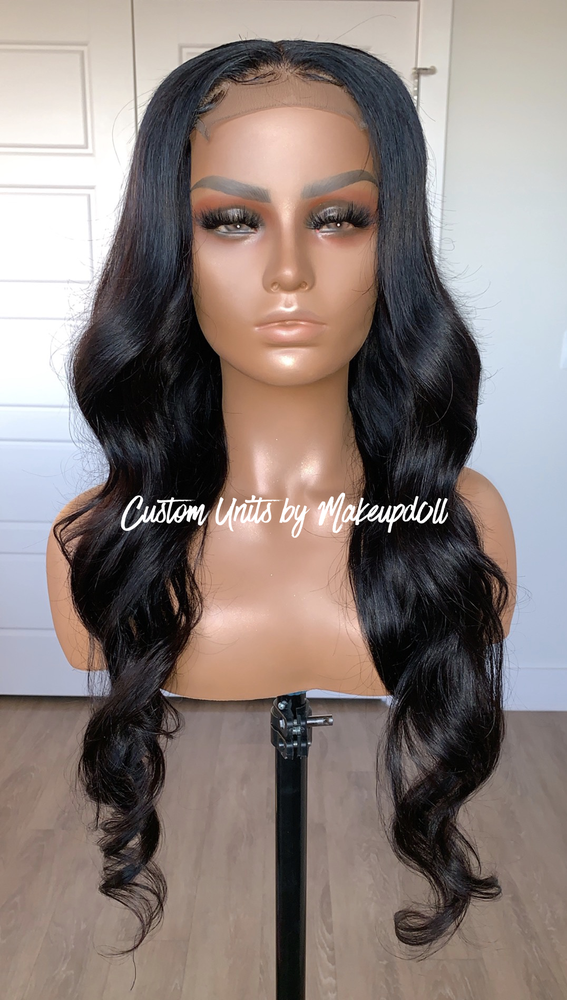 "Image of Brazilian Body Wave 26"" Custom Lace Closure Wig!"