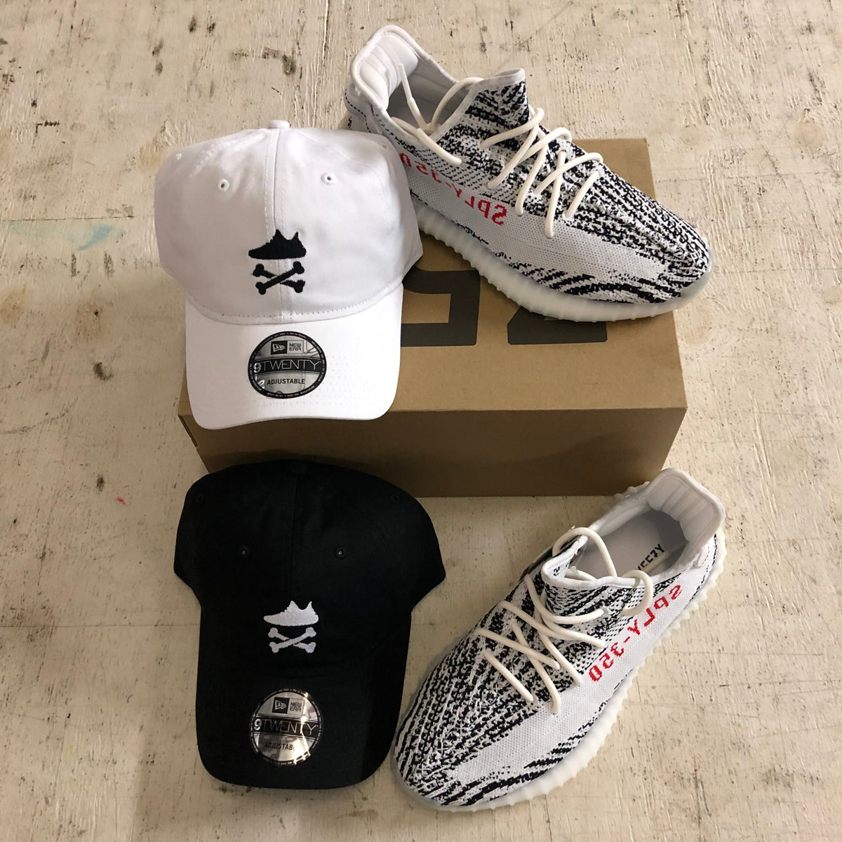"Image of YEEZY CROSSBONES EMBROIDERY ""WHITE"" DAD HAT OR SNAPBACK"