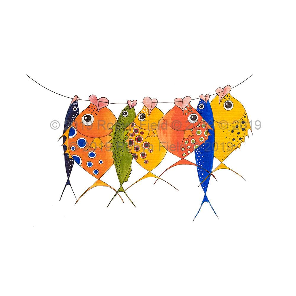 Image of Australian Artwork Print - More Happy Fish