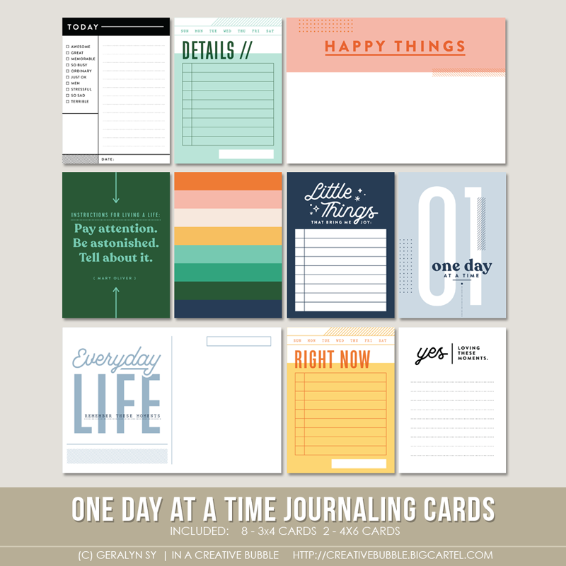 Image of One Day at a Time Journaling Cards (Digital)