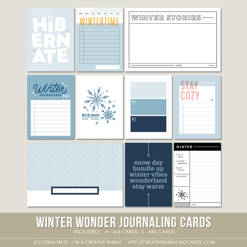 Image of Winter Wonder Journaling Cards (Digital)