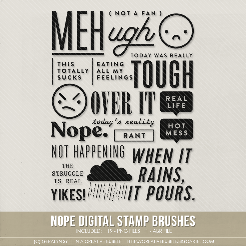 Image of Nope Stamp Brushes (Digital)