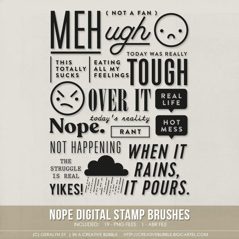 Image of Nope Stamp Brushes (Digital)