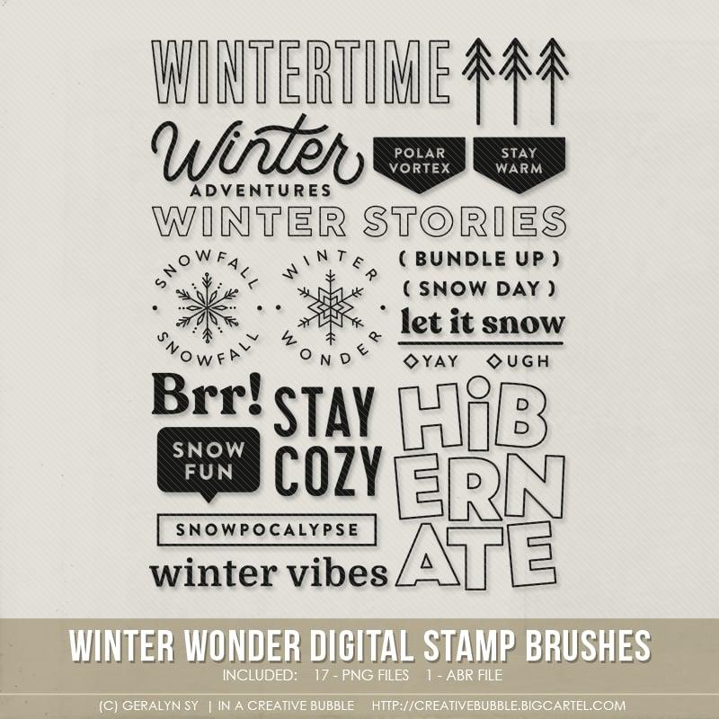 Image of Winter Wonder Stamp Brushes (Digital)