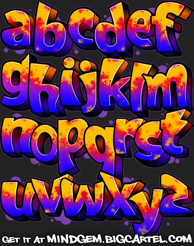 Image of Graffiti Font - Shane